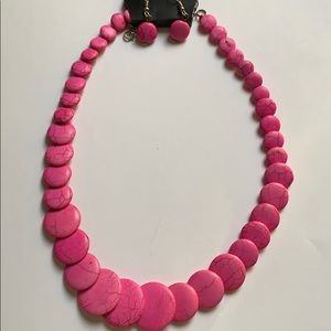 Paparazzi pretty in pink crackle bead necklace set
